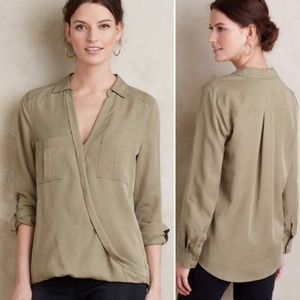 Holding Horses Celina Lyocell Wrap Faux Front Top